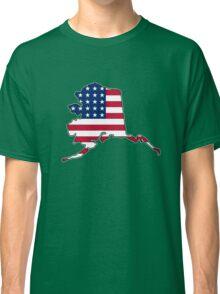 American flag Alaska outline Classic T-Shirt