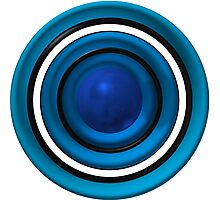 Blue ball and circles Photographic Print