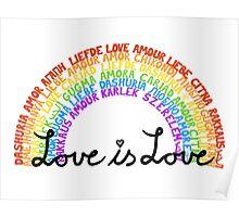 "LGBTQ+ Rainbow ""Love is Love"" multi-language  Poster"