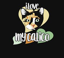 I love my calico cat Women's Fitted Scoop T-Shirt
