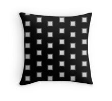 Black and White Stacked Squares Tile Pattern Throw Pillow