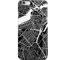 Boston Map - Black iPhone Case/Skin