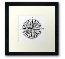 Black Compass Framed Print