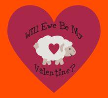 Cute Will Ewe Be My Valentine? Kids Tee