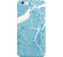 Boston Map - Baby Blue iPhone Case/Skin