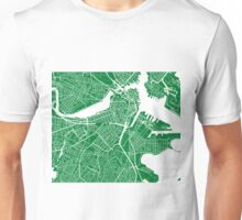 Boston Map - Green Unisex T-Shirt