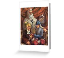 Megaman Family Portrait Greeting Card