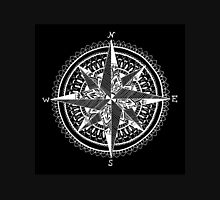 White Compass Womens Fitted T-Shirt