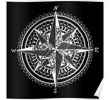 White Compass Poster