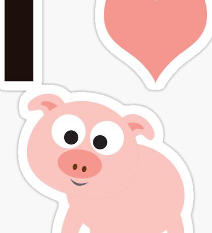 I heart pigs Sticker
