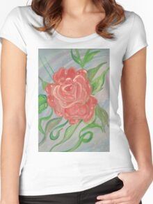 A Rose Women's Fitted Scoop T-Shirt