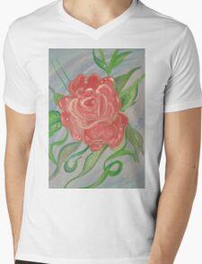 A Rose Mens V-Neck T-Shirt