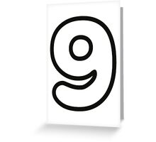 Comic Number 9 Nine Greeting Card