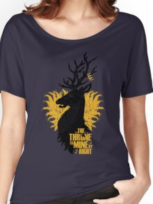 Crowned Stag Women's Relaxed Fit T-Shirt
