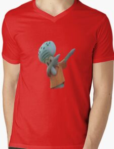 Squidward Dab Mens V-Neck T-Shirt