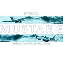 Mustang P51 Photographic Print