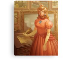 Princess Peach Portrait Canvas Print