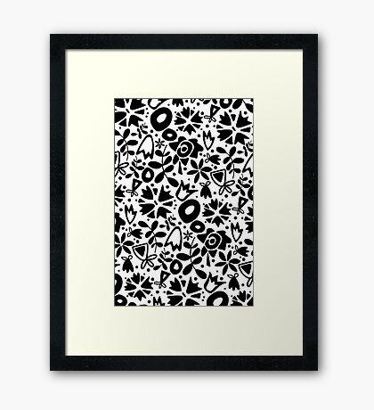 graphic garden Framed Print