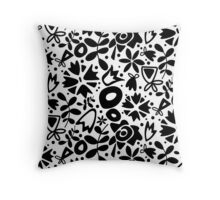 graphic garden Throw Pillow