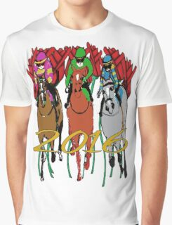 Kentucky Derby 2016 Racehorses Graphic T-Shirt