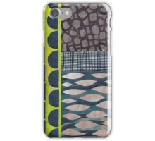 green + blue collage iPhone Case/Skin