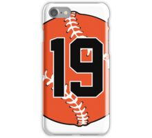 No. 19 Orange Baseball iPhone Case/Skin