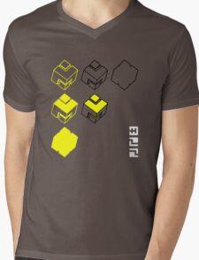 Cubes of the Line Mens V-Neck T-Shirt