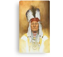 The Old War Chief Canvas Print