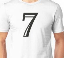 Decorated number 7 Seven Unisex T-Shirt