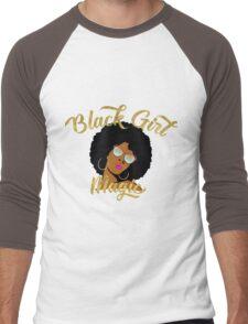 Black Girl Magic Graphic Men's Baseball ¾ T-Shirt