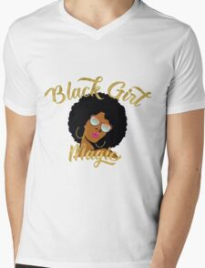 Black Girl Magic Graphic Mens V-Neck T-Shirt