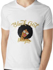 Black Girl Magic Graphic Mens V-Neck T-Shirt