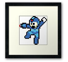 Megaman 8 Bits Framed Print