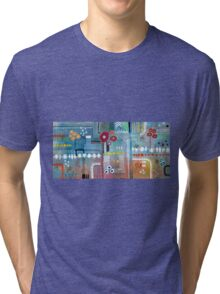 Motherboard with Flowers Tri-blend T-Shirt