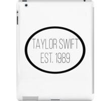 taylor swift est. 1989 iPad Case/Skin