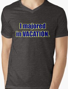 "High School Musical - ""I Majored in Vacation."" Shirt - Green Mens V-Neck T-Shirt"