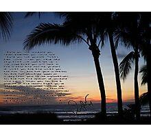 beach sunset clean speech  Photographic Print