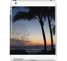 beach sunset clean speech  iPad Case/Skin