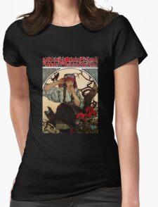 'Moravian Teachers Choir' by Alphonse Mucha (Reproduction) Womens Fitted T-Shirt