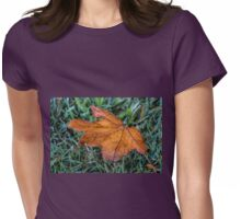 Fallen Leaf Womens Fitted T-Shirt