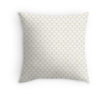 Mermaid Scales in Gold Throw Pillow