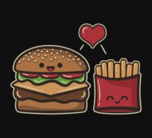 Burger and Fries Baby Tee