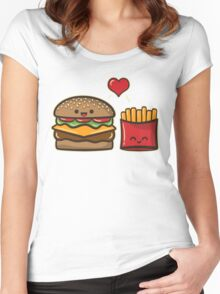 Burger and Fries Women's Fitted Scoop T-Shirt