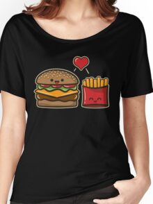 Burger and Fries Women's Relaxed Fit T-Shirt