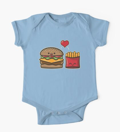 Burger and Fries One Piece - Short Sleeve