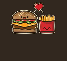 Burger and Fries Womens Fitted T-Shirt