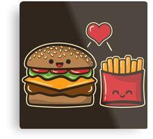 Burger and Fries Metal Print