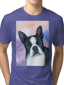 Dog 128 Boston Terrier Tri-blend T-Shirt