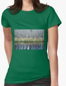 Swamp Reflection Womens Fitted T-Shirt