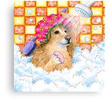 Dog 129 Golden Retriever Canvas Print